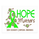 La esperanza importa el linfoma Non-Hodgkin 3 Tarjeta Postal