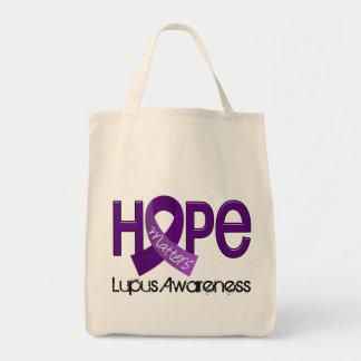 La esperanza importa el lupus 2 bolsa tela para la compra