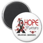 La esperanza importa el melanoma 3 imanes de nevera
