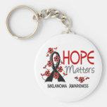 La esperanza importa el melanoma 3 llaveros personalizados