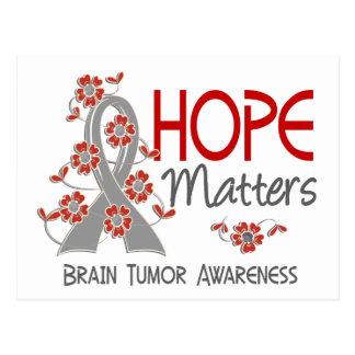 La esperanza importa el tumor cerebral 3 tarjeta postal