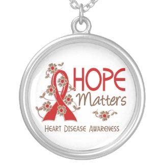 La esperanza importa enfermedad cardíaca 3 colgante redondo