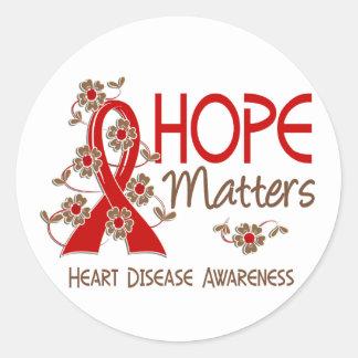 La esperanza importa enfermedad cardíaca 3 etiqueta redonda