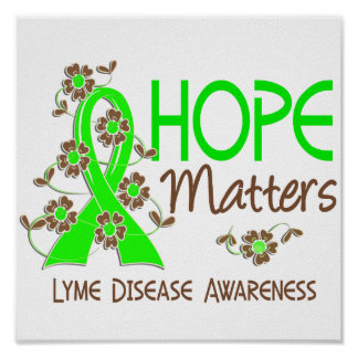 La esperanza importa enfermedad de 3 Lyme Poster