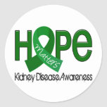 La esperanza importa enfermedad de riñón 2 etiquetas redondas
