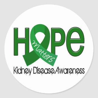 La esperanza importa enfermedad de riñón 2 pegatina redonda