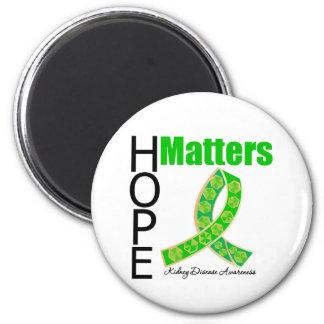 La esperanza importa enfermedad de riñón (la cinta imán redondo 5 cm