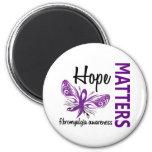 La esperanza importa Fibromyalgia de la mariposa Imán Para Frigorífico