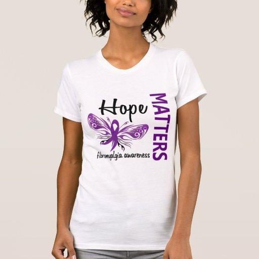 La esperanza importa Fibromyalgia de la mariposa Camisetas