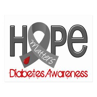 La esperanza importa la diabetes 2 tarjeta postal