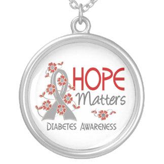 La esperanza importa la diabetes 3 colgante redondo