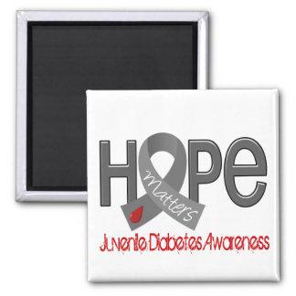 La esperanza importa la diabetes juvenil 2 imán cuadrado