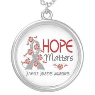 La esperanza importa la diabetes juvenil 3 colgante redondo
