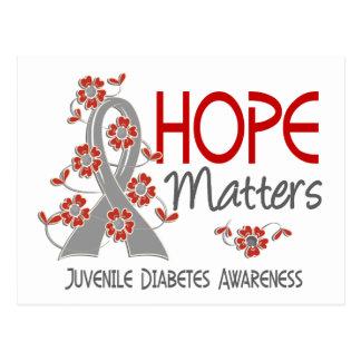 La esperanza importa la diabetes juvenil 3 tarjeta postal