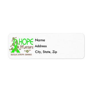 La esperanza importa la distrofia muscular 3 etiqueta de remitente