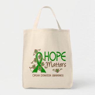 La esperanza importa la donación de órganos 3 bolsa tela para la compra