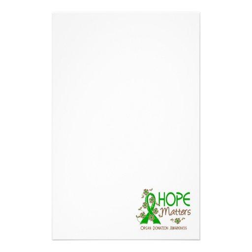 La esperanza importa la donación de órganos 3 papeleria personalizada