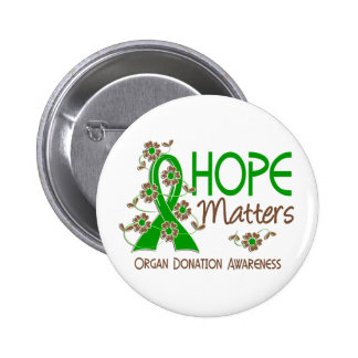 La esperanza importa la donación de órganos 3 pin redondo de 2 pulgadas