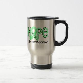 La esperanza importa la enfermedad celiaca 2 taza de viaje de acero inoxidable