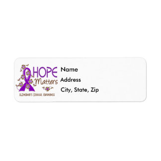 La esperanza importa la enfermedad de Alzheimer 3 Etiqueta De Remite