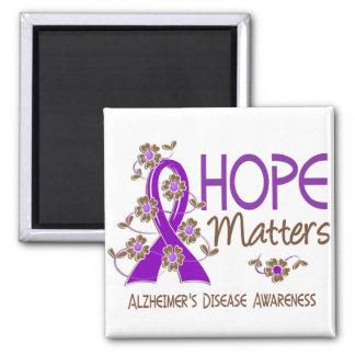 La esperanza importa la enfermedad de Alzheimer 3 Imán Cuadrado