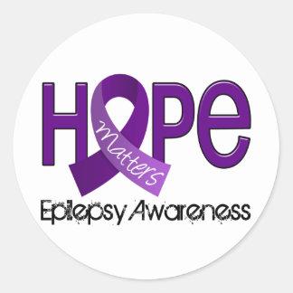La esperanza importa la epilepsia 2 pegatina redonda