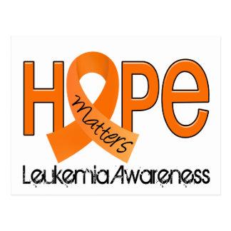 La esperanza importa la leucemia 2 tarjetas postales