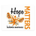 La esperanza importa leucemia de la mariposa tarjetas postales