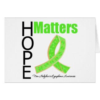 La esperanza importa linfoma de Non-Hodgkins (cint Felicitacion