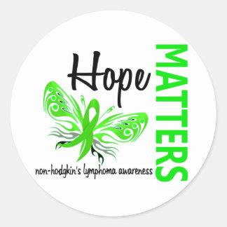 La esperanza importa linfoma Non-Hodgkin de la Pegatina Redonda