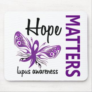 La esperanza importa lupus de la mariposa alfombrillas de ratones