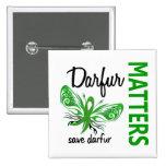 La esperanza importa mariposa Darfur Pins
