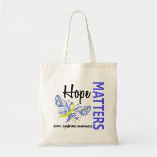La esperanza importa mariposa Síndrome de Down Bolsa Tela Barata