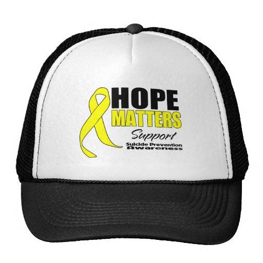 La esperanza importa prevención del suicidio de la gorros bordados