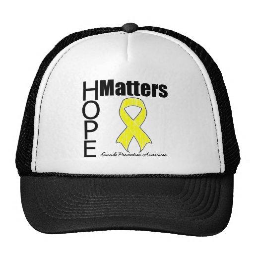 La esperanza importa prevención del suicidio gorra