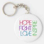 La esperanza, lucha, amor, inspira llaveros personalizados