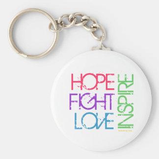 La esperanza, lucha, amor, inspira llavero redondo tipo pin