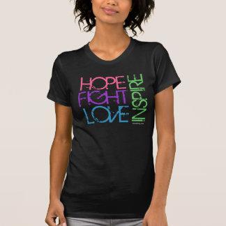 La esperanza, lucha, amor, inspira camiseta