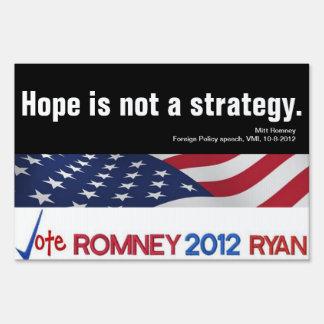 La esperanza no es una muestra de la yarda de la e