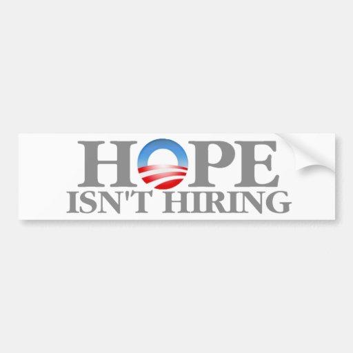 La esperanza no está empleando pegatina para auto