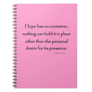 la esperanza no tiene ningún envase cuadernos