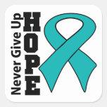 La esperanza peritoneal del cáncer nunca da para pegatina cuadrada