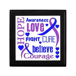 La esperanza reumatoide redacta el collage caja de joyas