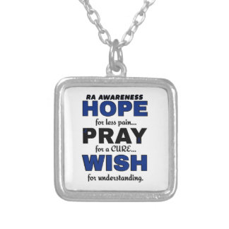 La esperanza ruega el RA del deseo… Colgante Cuadrado
