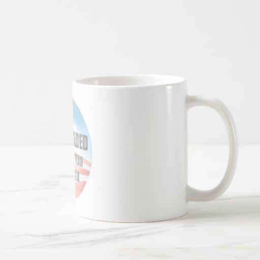 La esperanza se descoloró tazas de café