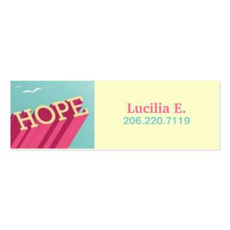La esperanza se eleva las tarjetas del tarjetas de visita mini