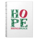 La esperanza trae paz cuaderno