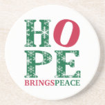 La esperanza trae paz posavaso para bebida