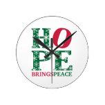 La esperanza trae paz relojes