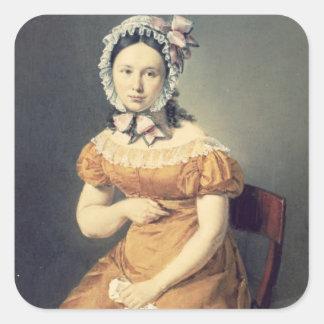 La esposa Catharine, 1825 del artista Calcomanías Cuadradases